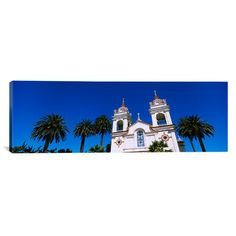 "East Urban Home Panoramic Portuguese Cathedral, San Jose, California Photographic Print on Canvas Size: 20"" H x 60"" W x 1.5"" D"