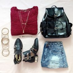 IG: megoosta | machine jeans outfit | ripped distressed destructed denim inspiration laydown