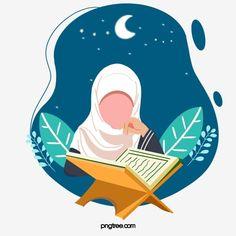 Star Clipart, Hand Clipart, Reading Cartoon, Ramadan Poster, Quran Book, Islamic Cartoon, Anime Muslim, Image Citation, Hijab Cartoon