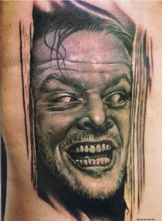 Jack Nicholson / The Shining Tattoo by Bob Tyrrell