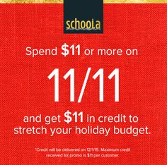 FREE $30 Credit to Schoola.com + FREE Shipping = $30 in Free Clothes + Another $11 Free Later **HOT** - http://www.swaggrabber.com/?p=282796