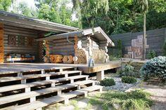 Cabaña de maderaen un entorno con encanto.
