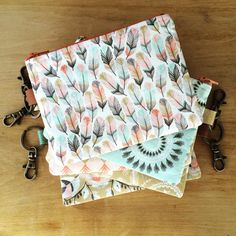 """@dearhomevintage - """"@hawthornethreads here's the pouches I made with the #coyotefabric pull :) #dearhome #handmade #hawthornethreads #desertpalette"""""""