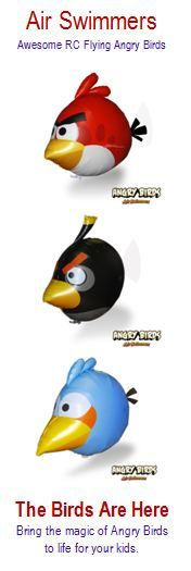 Kids love these things. RC Flying Angry Birds. -WATCH THIS VIDEO- it will put a smile on your face for sure.