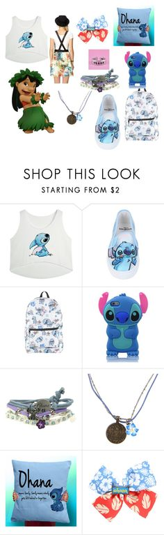"""OHANA! # Family means no one left behind or forgotton"" by kchest ❤ liked on Polyvore featuring beauty, Hot Topic, Disney and Forever 21"