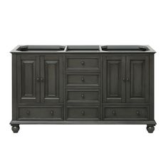 Avanity Thompson Charcoal Glaze Traditional Bathroom Vanity (Common: 60-in x 21-in; Actual: 60-in x 21-in)