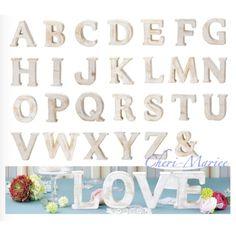 画像1: もみの木素材のアルファベットオブジェ(高さ約12cm・AからZ、&の中で1文字選べます) Wedding, Decor, Valentines Day Weddings, Decoration, Weddings, Decorating, Marriage, Chartreuse Wedding, Deco