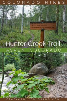 Hunter Creek Trail in Aspen, CO is a hiking, running, and mountain biking haven. A rocky dirt trail that goes alongside beautiful Hunter Creek to Hunter Valley where you'll find a mixture of trails. Wildflowers, Creeks, Bridges, History, Lush forests. Backpacking Trails, Hiking Trails, Canada Travel, Travel Usa, Snowboard, Mountain Bike Trails, Aspen Mountain, Colorado Hiking, Aspen Colorado
