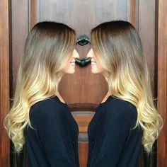 Ombre | blonde soft wave curls