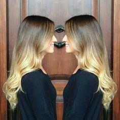 Ombre   blonde soft wave curls