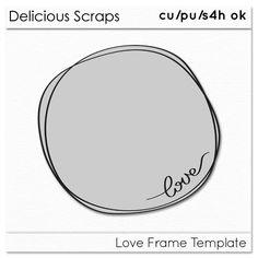 Delicious Scraps: • New Free CU Love Frame •