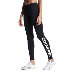 Converse Chuck Leggings - Shop online for Converse Chuck Leggings with JD Sports, the UK's leading sports fashion retailer. Black Converse, Converse Chuck, Sports Leggings, Black Leggings, Leggings Are Not Pants, Sport Fashion, Womens Fashion, Jd Sports