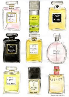Chanel perfumes by becksbeck