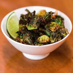 Brussels Sprout Chips from Social Kitchen & Brewery in San Francisco, CA.