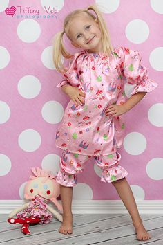 Abby's Night Gown and Bloomers Set PDF Pattern size 6-12 months to size 8. $12.00, via Etsy.