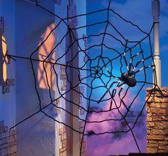 Giant Halloween Spider Web Decoration