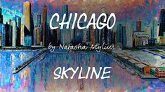 Chicago Skyline. Art Demo. Impressionism, Art Demo, Contemporary Impressionism, Fine Art, Canvas, Art, Skyline, Canvas Painting