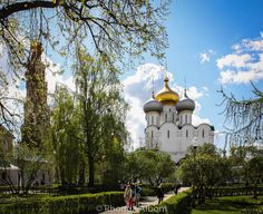 Cathedral of Our Lady of Smolensk at the Novodevichy Convent in Moscow Russia