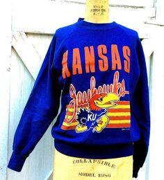 Vintage Estate Retro Graphics 1988 Kansas Jayhawks by MADVintology