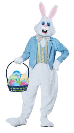 California Costumes Adult Deluxe Easter Bunny Costume Large/XLarge