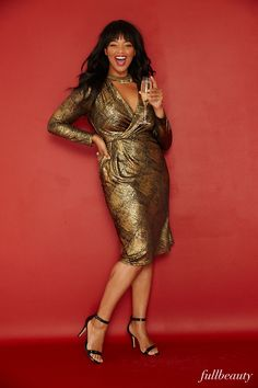 78204943ef8 Turn heads and own your curves on New Years Eve in this stunning metallic plus  size · Glitz And Glamour Party ...