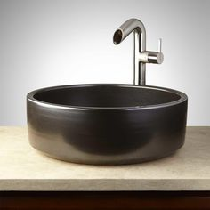 Toluca Hand-Glazed Pottery Vessel Sink - Metallic Gray