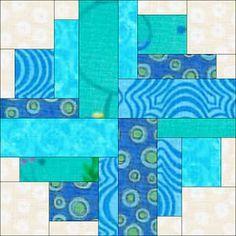 Scrappy rectangles block