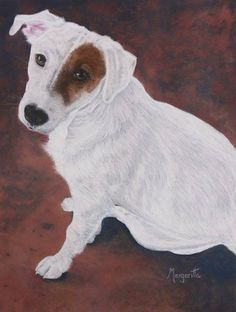Here is another pastel sent to us Margaritta Crigler. She is doing pet portraits. I believe this is a Jack Russell? She did this with Sennelier Pastels on a textured pastel paper. I think she did a great job of catching this little dog's attitude! Margaritta - thank you so much for posting your art with us! #PastelPainting #Artwork
