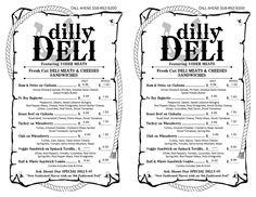 dilly deli menu