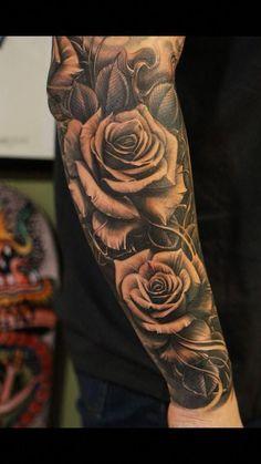 Roses vetoe black label art co los angeles usa tattoo de rosas no braço тат Cool Forearm Tattoos, Forearm Tattoo Design, Body Art Tattoos, Cool Tattoos, Female Tattoos, Unique Tattoos, Rose Tattoo Forearm, Wicked Tattoos, Awesome Tattoos