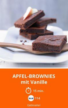 Apfel-Brownies - mit Vanille - smarter - Kalorien: 114 Kcal - Zeit: 15 Min. | eatsmarter.de