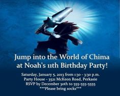 Chima Lego party invitation