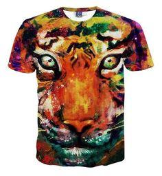 d287da6f30f6 Animal cat printed 3D t shirt men s t-shirt homme fashion clothing  short-sleeve
