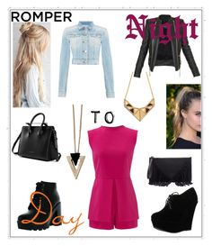 """""""Day to Night- Romper: Contest Entry"""" by haybeebaby on Polyvore featuring Replay, Laundry by Shelli Segal, Bamboo, Chicnova Fashion, Forever Link, Balmain, Sole Society, DayToNight and romper"""