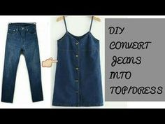 Reuse Old Mens Jeans into girls Top. We all have so many pair of jeans and denim is one material which never goes out of style. It always stays in fashion. So how can we recycle or reuse our old denim jeans? Diy Jeans, Jeans Refashion, Men's Jeans, Reuse Jeans, Refaçonner Jean, Jean Diy, Outfit Jeans, Jeans Dress, Old Man Jeans