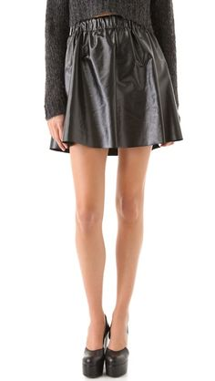 Cheap Monday  Float Faux Leather Skirt  $80.00
