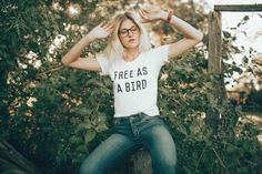 If we are out of a size you need, kindly check our inventory on our new site: http://www.thebeeandthefox.com Professionally screen printed on white American Apparel T-shirts and features a slightly scooped neck and perfectly worn feel. Poly-Cotton (50% Polyester / 50% Cotton) construction. Durable rib neckband. Form-fitting. Super, super soft. Made in the USA. Available in American Apparel Womens sizes S, M, L, XL. Refer to American Apparel sizing chart, which typically runs ...