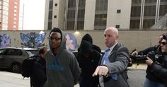 Two teen suspects in an alleged Brooklyn park gang rape remained silent as they left a brief court appearance in the contentious case.