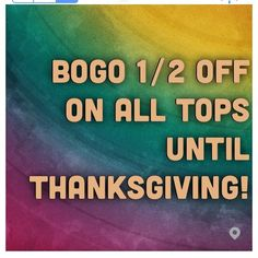 BUY ONE GET ONE HALF OFF!!! Only on tops: jackets, blouses, cardigans, etc. All this week! Through Thanksgiving! Get your Christmas presents early! Anthropologie Tops