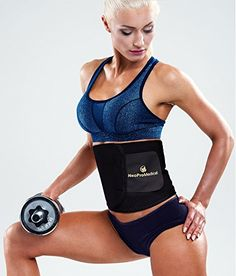 Neopromedical  Waist Trimmer Belt  Weight Loss Wrap  Stomach Fat Burner  Low Back and Lumbar Support with Sauna Suit Effect  Best Abdominal Trainer *** You can find more details by visiting the image link. (Note:Amazon affiliate link)