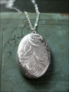 Large Oval Sterling Silver Locket. She has been wanting something like this for a very long time. It would make a great push present. In fact you will probably be in trouble if you don't get her this!