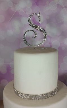 5 Tall Initial Monogram Wedding Cake Topper by SpectacularEvents, $45.00
