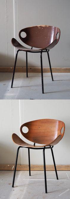 Kuluneen mökkisaunan muutos pelkällä pintakäsittelyllä   Local Artisan Monochrome, Mid-century Modern, Dining Chairs, Artisan, Mid Century, Gift Wrapping, Kitchen, Lost, Furniture