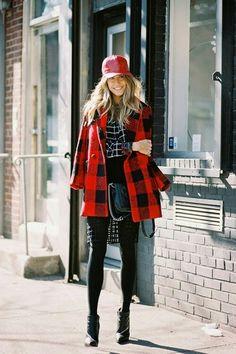 Red black coat shorys cccc