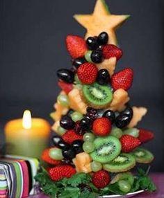 albero natale frutta