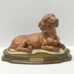 G Armani, A Dog's Tale, Italian Artist, Dachshund Dog, Lion Sculpture, Sculptures, Accent Decor, Porcelain, Statue
