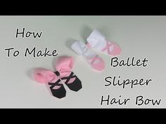 BALLET SLIPPERS with TULLE Dance Ribbon Sculpture Hair Clip Bow DIY Free Tutorial by Lacey - YouTube