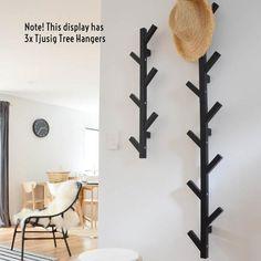 Ikea Hangers, Wall Hangers For Clothes, Metal Coat Hangers, Tree Coat Rack, Coat Tree, Ikea Tjusig, Jacket Hanger, Creative Wall Decor, Home Decor