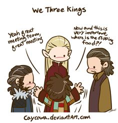 Hobbit - We Three Kings and Bilbo by caycowa on DeviantArt