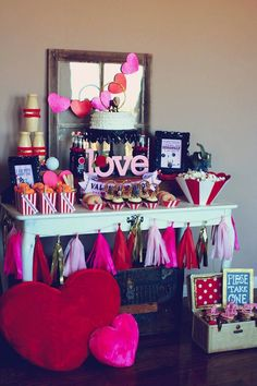 Circus themed Valentine's Day Party with Lots of Really Cute Ideas via Kara's Party Ideas KarasPartyIdeas.com #circusparty #valentinesdaypar...